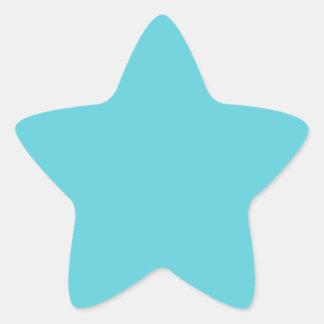 Azul del huevo del petirrojo pegatina en forma de estrella