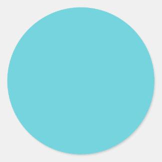 Azul del huevo del petirrojo pegatina redonda