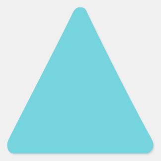 Azul del huevo del petirrojo pegatina triangular