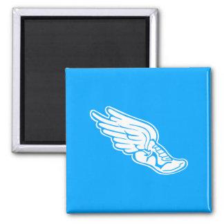 Azul del imán del logotipo de la pista