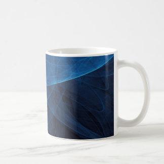 Azul del infinito 2 taza básica blanca