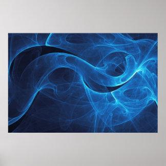 Azul del infinito póster