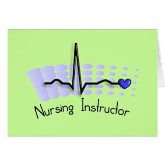 Azul del instructor QRS del oficio de enfermera Tarjetón