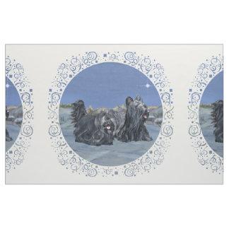 Azul del invierno de los terrieres de Skye Telas