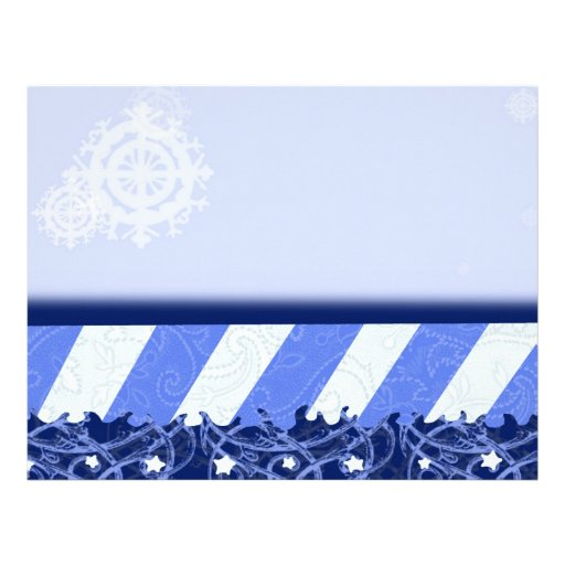 Azul del invierno membrete a diseño