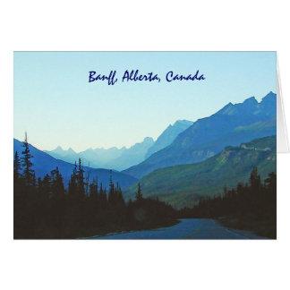 Azul del jaspe de Banff Tarjeta De Felicitación