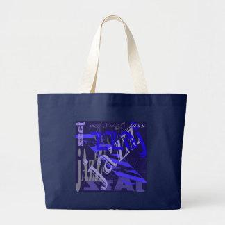 Azul del jazz en azul bolsa de mano