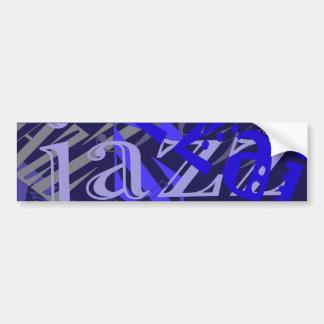 Azul del jazz en azul pegatina para auto