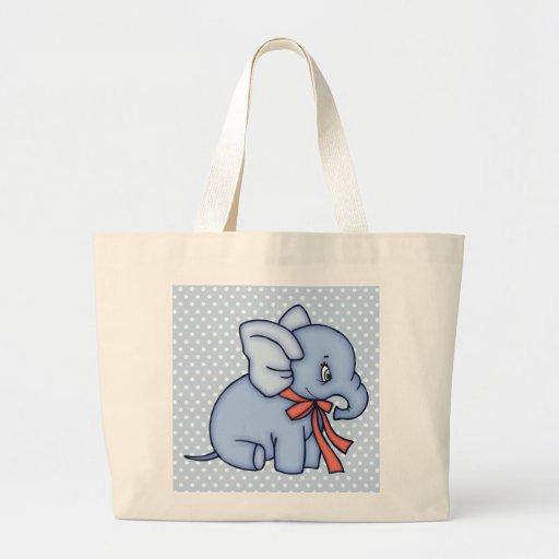 Azul del juguete del elefante bolsas
