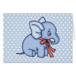 Azul del juguete del elefante tarjeta