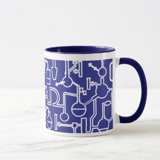 Azul del kobalt del laboratorio de ciencia de la taza