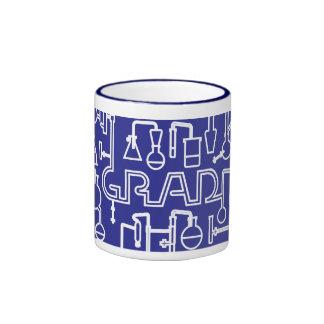 Azul del kobalt del laboratorio de ciencia de la taza de dos colores