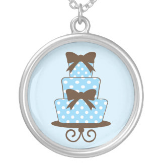 Azul del KRW y collar de la torta de cumpleaños