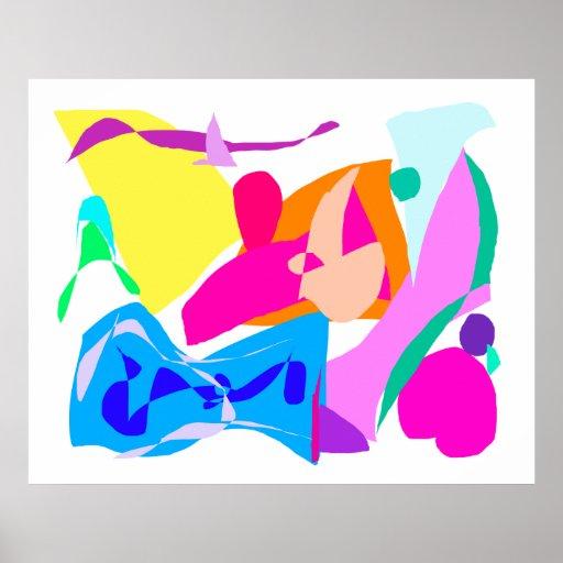 Azul del lago sky del flujo de la poesía de las hi póster