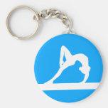 Azul del llavero de la silueta del gimnasta