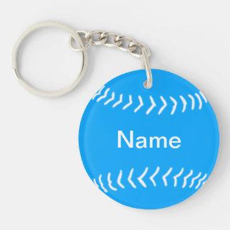 Azul del llavero de la silueta del softball