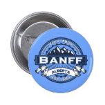 Azul del logotipo de Banff Pin Redondo De 2 Pulgadas