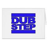 Azul del logotipo de DUBSTEP Felicitacion