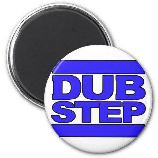 Azul del logotipo de DUBSTEP Imán Redondo 5 Cm