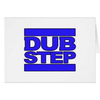 Azul del logotipo de DUBSTEP Tarjeta De Felicitación