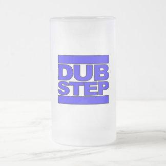 Azul del logotipo de DUBSTEP Taza De Cristal