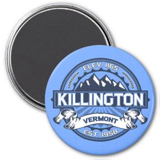 Azul del logotipo de Killington Imán De Nevera