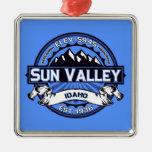 Azul del logotipo de Sun Valley Adornos De Navidad