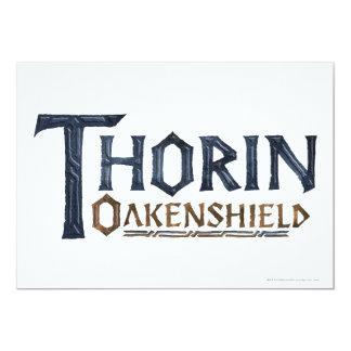 Azul del logotipo de THORIN OAKENSHIELD™ Invitación 12,7 X 17,8 Cm