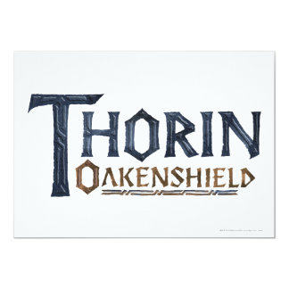"Azul del logotipo de THORIN OAKENSHIELD™ Invitación 5"" X 7"""