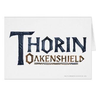 Azul del logotipo de THORIN OAKENSHIELD™ Tarjeta De Felicitación