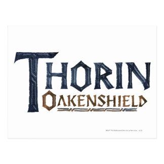 Azul del logotipo de THORIN OAKENSHIELD™ Tarjetas Postales