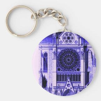 azul del lt de Notre Dame Llavero Redondo Tipo Pin
