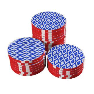 Azul del modelo 2 de Argyle Juego De Fichas De Póquer