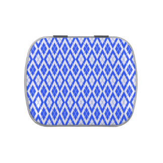 Azul del modelo 2 de Argyle Latas De Caramelos