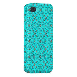 Azul del modelo de los diamantes artificiales del  iPhone 4 carcasas