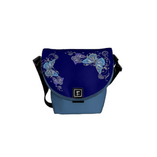 Azul del modelo de mariposa bolsas de mensajería