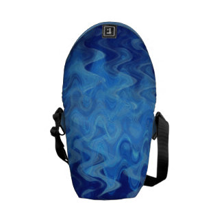 azul del modelo de onda creado por Tutti Bolsa Messenger