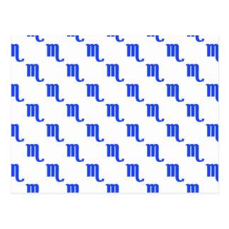Azul del modelo del escorpión tarjeta postal