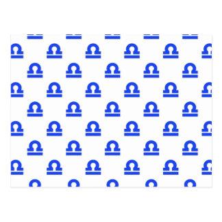 Azul del modelo del libra tarjeta postal
