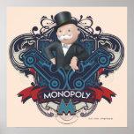 Azul del monopolio póster