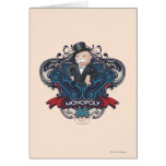 Azul del monopolio tarjeta de felicitación