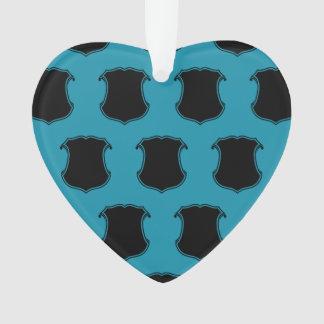 Azul del negro del escudo del escudo