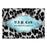 Azul del negro del leopardo de la tarjeta del club tarjetas de visita
