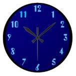 Azul del negro en azul relojes