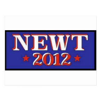 Azul del Newt 2012 Postal