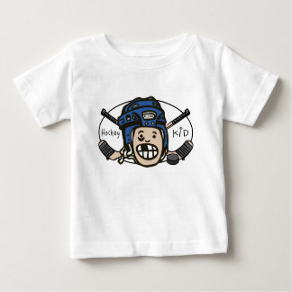 Azul del niño del hockey playeras