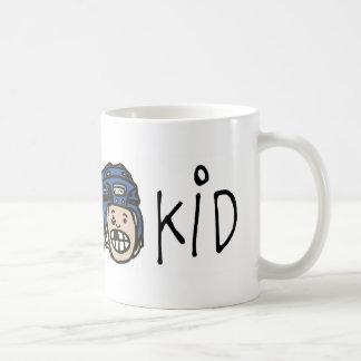 Azul del niño del hockey taza de café