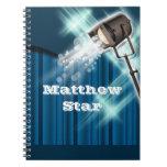 Azul del nombre artístico del actor de Hollywood Libro De Apuntes