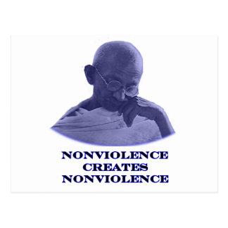Azul del Nonviolence los regalos de Zazzle del Postal
