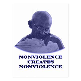 Azul del Nonviolence los regalos de Zazzle del Postales